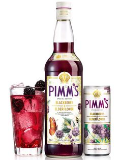 Pimm's Blackberry & Elderflower Ingredients: 50ml Pimm's Blackberry & Elderflower Lemonade  Method: This couldn't be simpler – just pour the Pimm's Blackberry & Elderflower into a glass, top up with lemonade and garnish with blackberries.
