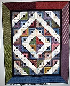 I have seen a lot of log cabin quilts but this is an interesting ... : log cabin quilt layouts - Adamdwight.com
