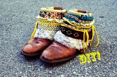 """DIY boho belted boots tutorial""  literally made me fall more in love with boots. if that was possible."