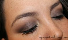 Eyes: Maybelline Color Tattoo Tough as Taupe MAC Copperplate on lid MAC Mystery to blend out Copperplate Soap n Glory tan/nude eyeshadow to...