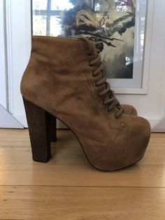 1a226cf46d73 Jeffrey Campbell Lita Style High-Heeled Platform Booties (LIKE NEW  Condition)  fashion  clothing  shoes  accessories  womensshoes  heels (ebay  link)