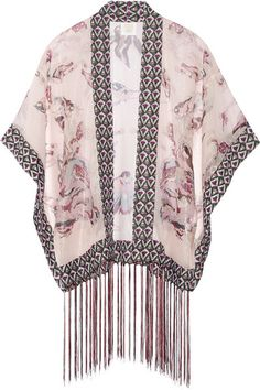 Anna Sui printed silk-blend chiffon kimono jacket, $445