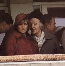 """Diana with her maternal grandmother, Dowager Lady Ruth Fermoy, close friend of the Queen Mum. She never forgave Diana for """"causing the separation"""" said Fermoy's godchild. """"She felt Diana had brought shame to her family by not remaining in her marriage. She didn't speak to Diana until the last days of her life and even then, Ruth told me, she could not forgive her for betraying the monarchy"""".  Fermoy expected Diana to do what she had done, ignore a cheating husband."""