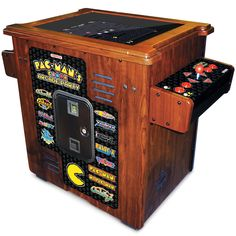 The 30th Anniversary Authentic Pac-Man Arcade Cocktail Table - Hammacher Schlemmer - 13 arcade games in all.