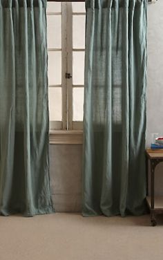 sage green linen curtains http://rstyle.me/n/qu2i5r9te