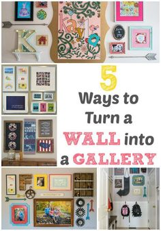 DIY Home Decor | Make your home decor more meaningful with these five ideas for turning a boring wall into a stunning GALLERY!