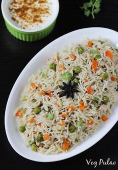 pulao recipe – an easy one pot Indian rice pilaf cooked with mild spices and veggies. Pulao or pulav is one of the most common rice dishes that is often made in most Indian homes. It is also the one m (How To Cook Mix Vegetables) Lunch Box Recipes, Vegetable Recipes, Vegetarian Recipes, Cooking Recipes, Healthy Recipes, Vegetable Curry, Vegetarian Soup, Cooking Food, Recipes Dinner