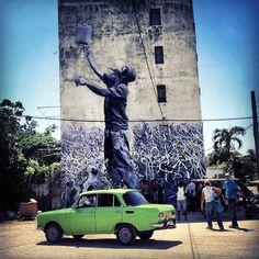 JR + José Parla Mural in Havana. I want to go to Cuba!
