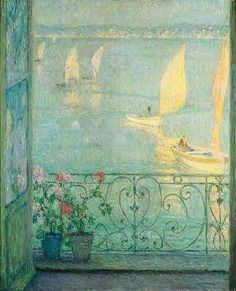 Henri Le Sidaner - La Fenêtre , le Croisic ,1924