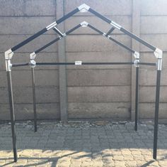Small Steel Tube Shelter With Peak Roof. & PVC Canopy Design Tool - various types included. | VBS Rome ...