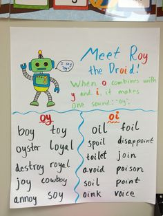 Oi and oy anchor chart!