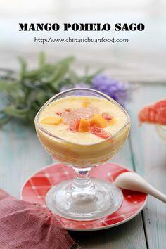 Chinese dessert-Mango Pomelo Sago--use coconut milk to replace milk to make this vegan friendly.