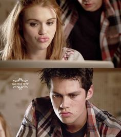 Stiles & Lydia making the same face... LOVE it!