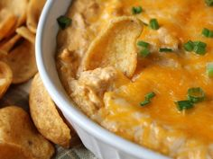 Buffalo Chicken Dip  Made with fresh chicken, 1 cup franks hot wing sauce, extra blue cheese and kept in small crock pot