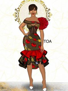 Short African Dresses, Latest African Fashion Dresses, African Print Dresses, African Print Fashion, Africa Fashion, Ankara Dress Styles, Best African Dress Designs, Latest Ankara Dresses, Ankara Dress Designs