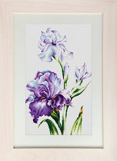 click here to view larger image of Irises (counted cross stitch kit)