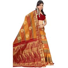 Buy Sudarshan Silks Multi Silk Saree by Sudarshan Silks, on Paytm, Price: Rs.12607?utm_medium=pintrest