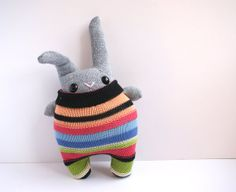 Little Sock Rabbit by theRemakerie on Etsy, $35.00