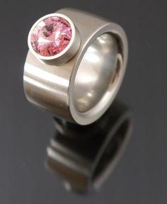 14mm Edelstahl Ring mit 13mm Edelstahlkopf Light Rose-$36.04-(ring-rings )