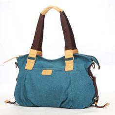 Eshow Women's Casual Canvas Top Handle Shoulder Bag, Blue: Handbags: AmazonSmile