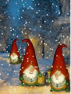 Christmas Rock, Christmas Gnome, Christmas Scenes, Vintage Christmas, Christmas Holidays, Christmas Crafts, Christmas Decorations, Christmas Drawing, Christmas Paintings