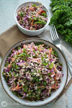 Ensalada detox - Pizca de Sabor brócoli, repollo o col morada, zanahoria, kale o…