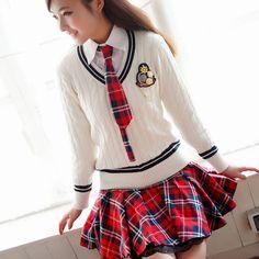 013 estudiantes uniforme escolar conjunto suéter 100% camisa blanca