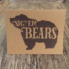 """Sic 'Em Bears"" notecards by JoyfulPixels on Etsy"