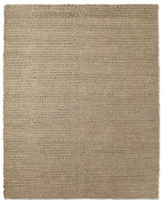 Chunky Braided Wool Rug (Oatmeal) substantial wool yarns are plush and soft underfoot, and exceedingly resilient due to the felted construction. Woven by hand on a state-of-t...