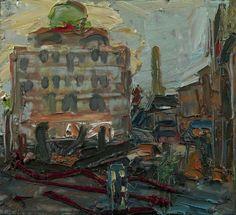 "Frank Auerbach ""The Camden Theatre"", 1976 Frank Auerbach, Landscape Art, Landscape Paintings, Aberdeen Art Gallery, Chaim Soutine, Gallery Of Modern Art, Classic Paintings, Art Uk, City Art"