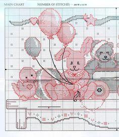 Just Cross Stitch Patterns | Learn craft is facilisimo.com  baby shelf 1