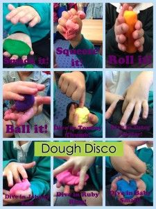 Dough Disco is great fun. The basic concept is for the children to manipulate… Motor Skills Activities, Gross Motor Skills, Learning Activities, Finger Gym, Funky Fingers, Handwriting Activities, Playdough Activities, How Many Kids, Pre Writing