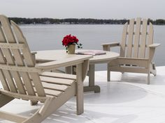 Vinyl By Design Polywood Furniture - Vinyl By Design Plastic Patio Furniture, Wood Patio Furniture, Adirondack Furniture, Outdoor Furniture Sets, Furniture Design, Deck Chairs, Outdoor Chairs, Outdoor Decor, Outdoor Rooms