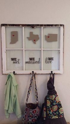 LOVE! old window #uppercaseliving Entry way idea!