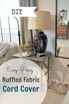 diy cord covers sewing fun pinterest chain links diy home decor and diy and crafts. Black Bedroom Furniture Sets. Home Design Ideas