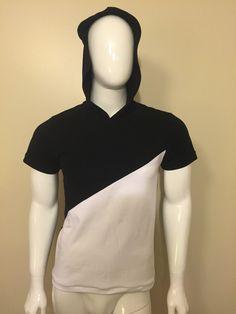 T-shirt Bl. with hoodie Menswear, Hoodies, T Shirt, Sweatshirts, Tee, Hoodie, Men Clothes, Men Outfits, Men Wear