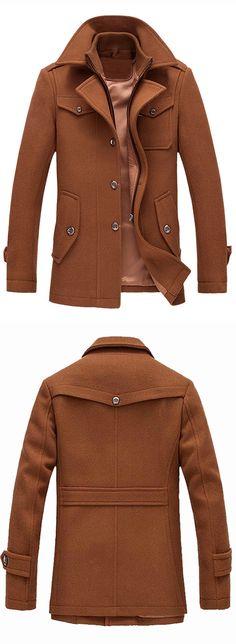 Epaulet Design Wool Blend Faux Twinset Jacket