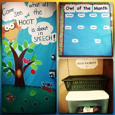 Owl theme for my speech room this year!