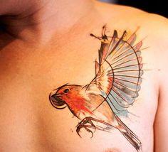 Beija flor em aquarela - Fotos de Tatuagens