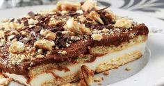 Λαχταριστό γλυκό με κρέμα σοκολάτα και πτι-μπερ