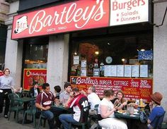 Mr. Bartley's, Cambridge, MA. Have to try the Harvard Double Burger. Specialty Dishes: The Triple D Burger, The Drone Burger, Frappes  This Harvard Square institution serves classic American burgers with classic and creative toppings, often named for celebrities. The Triple-D burger tops two patties with bacon, cheese, barbecue sauce adn grilled onions, with onion rings.