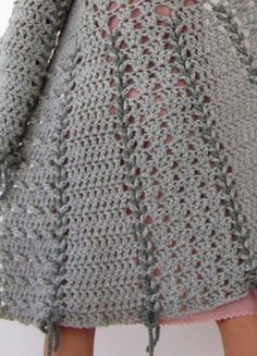 Close-up Crochet bow coat etsy.com/listing/92380890/candy-crochet-bow-coat-in-grey-with?ref=cat3_gallery_6