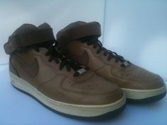 NIKE AIR FORCE 1 MID '82 BROWN Basketball Shoes  Men's 11 retro leather suede  #NikeAir #BasketballShoes