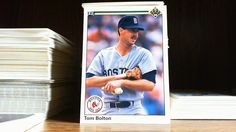 UPPER DECK 1990 TOM BOLTON CARD # 351 BOSTON RED SOX. #BostonRedSox
