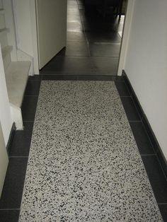 Grote foto granito terrazzo tegel bijzonder met beton cire bouw industrie stenen en tegels