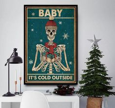 Baby it's cold outside skeleton poster Halloween Wall Decor, Dane Puppies, Getting A Puppy, Two Dogs, Gentle Giant, Its Cold Outside, Funny Babies, Rescue Dogs, Poster Wall