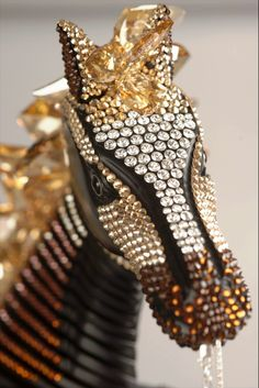 Delicately crystal embellished horse by #CFDASwarovski nominee Marc Alary, available for auction to benefit Free Arts NYC