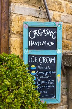 Ice cream! The Slaughters. Possibly the Pretties Villages in The Cotswolds