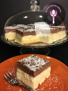 Csokoládés kókuszos tejbegríz szelet | Sylvia Gasztro Angyal Food And Drink, Pudding, Hungary, Sweet, Recipes, Cakes, Candy, Cake Makers, Custard Pudding