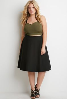 Plus Size Classic A-Line Skirt | FOREVER 21 - 2000157731